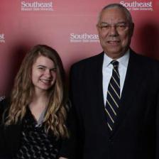 Cassi and General Colin Powell